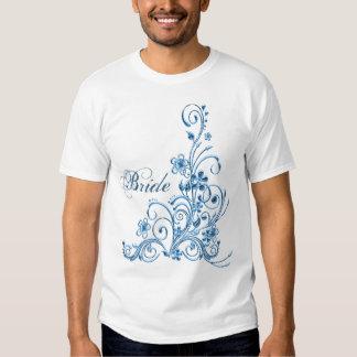 Braut-T - Shirt: Himmel-Blau-Eleganz Hemd