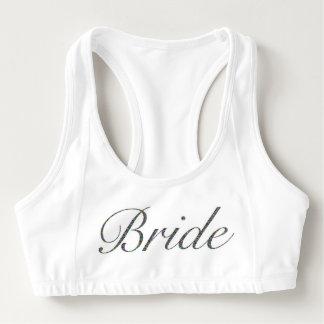 Braut trägt BH zur Schau Sport-BH
