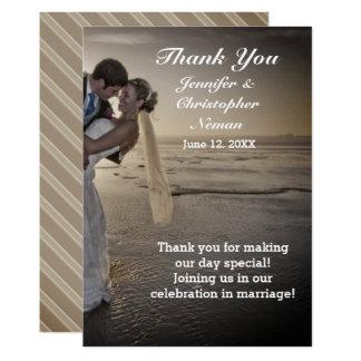Braut-u. Bräutigam-danken Grayed 12,7 X 17,8 Cm Einladungskarte