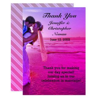 Braut-u. Bräutigam-danken lila 12,7 X 17,8 Cm Einladungskarte