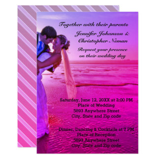 Braut-u. Bräutigam-laden lila 12,7 X 17,8 Cm Einladungskarte