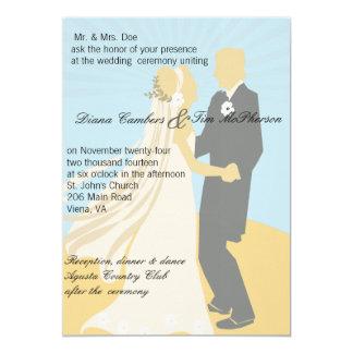 Braut-u. Bräutigam-romantischer Hochzeits-Tanz Karte