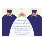 Braut u. Brautjungfern-Brautmittagessen laden ein Personalisierte Ankündigungskarten