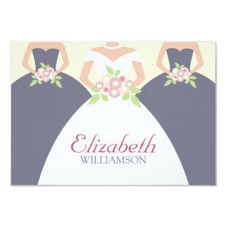 Braut u. Brautjungfern-Brautmittagessen Placecards 8,9 X 12,7 Cm Einladungskarte
