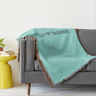 BRAUT u. Co blaue und weiße Hochzeits-Wurfs-Decke Decke