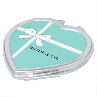 BRAUT u. Co. blaue und weiße Taschenspiegel