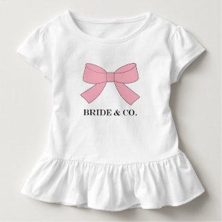 BRAUT u. Co-Duschen-Rosa-Baby-Party-Rüsche-T-Stück Kleinkind T-shirt