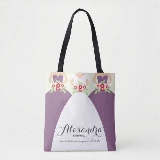Braut u. ihre Brautjungfern-lila Tasche