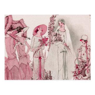 Braut und Begleiter Postkarte