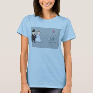 Braut und Bräutigam auf der Lebenstraße. T-Shirt