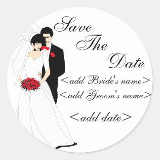 Braut und Bräutigam Runde Aufkleber