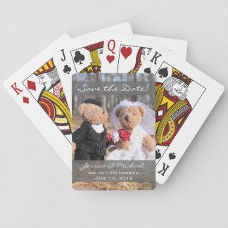Braut-und Bräutigam-Bären, die Save the Date Spielkarten