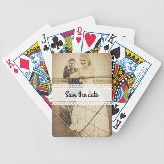 Braut und Bräutigam Bicycle Spielkarten