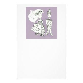 Braut und Bräutigam Briefpapier