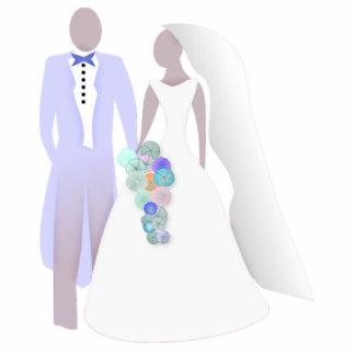 Braut und Bräutigam Photo Figuren