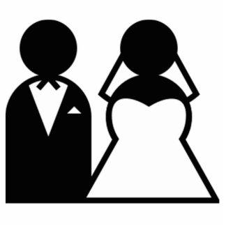 Braut und Bräutigam Freistehende Fotoskulptur