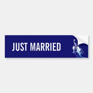 Braut-und Bräutigam-gerade verheirateter Autoaufkleber