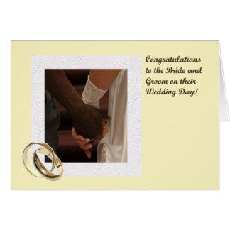 Braut-und Bräutigam-Glückwunsch-Karte Karte