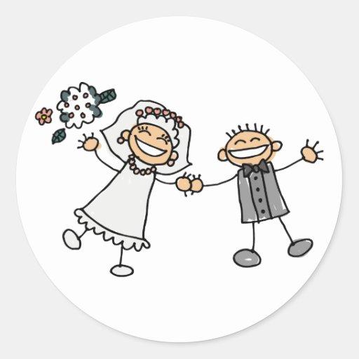 Braut-und Bräutigam-Hochzeits-Aufkleber