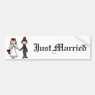 Braut-und Bräutigam-Hochzeits-Cartoon Autoaufkleber