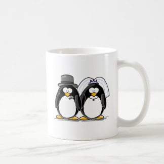 Braut-und Bräutigam-Pinguine Kaffeetasse