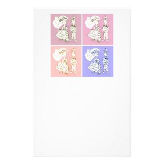 Braut-und Bräutigam-Pop-Kunst Briefpapier