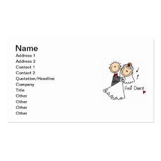 Braut und Bräutigam tanzen zuerst T-Shirts und Visitenkarten Vorlage