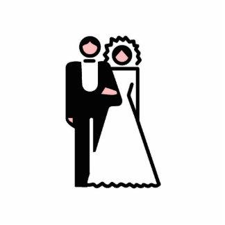Braut-und Bräutigam-Verzierung Fotoskulptur Ornament