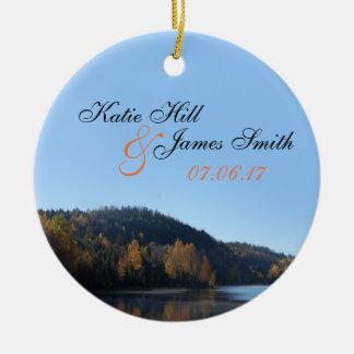 Braut-und Bräutigam-Weihnachtsverzierung Keramik Ornament