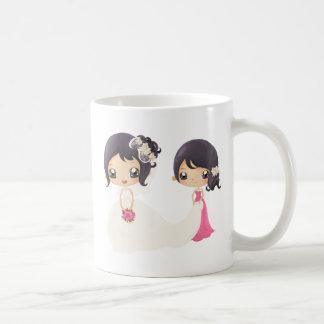 Braut und Trauzeugin Kaffeetasse
