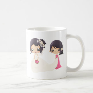 Braut und Trauzeugin Teehaferl