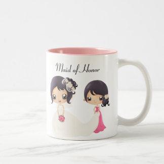 Braut und Trauzeugin Zweifarbige Tasse