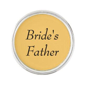 Braut-Vater-kundengerechtes Revers-Button Anstecknadel