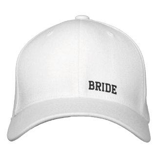 Braut-Weiß-Hut Bestickte Mützen