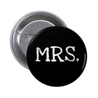 Braut-weiße Text-Frau Runder Button 5,7 Cm