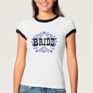 Braut-Western-Blau-T - Shirt