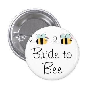 Braut zum Bienenniedlichen Brautknopf Runder Button 3,2 Cm
