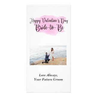 Braut, zum Foto-Karte des Valentines zu sein Tages Karte
