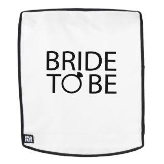Braut, zum rucksack