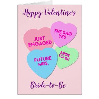 Braut, zum Valentinstag-Karte zu sein Karte