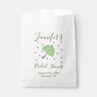 BrautBabyparty-Schokoladen-Regen lässt Geschenktütchen