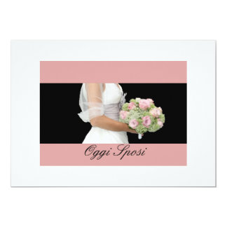 Brautblumenstrauß der italienischen 12,7 x 17,8 cm einladungskarte