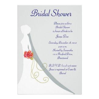 Brautduschen-Braut-Silhouette Individuelle Ankündigung