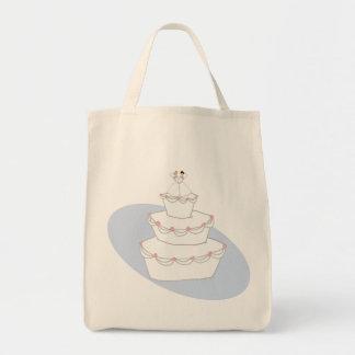 Bräute der Hochzeitstorte-zwei Einkaufstasche
