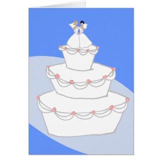 Bräute der Hochzeitstorte-zwei Karte