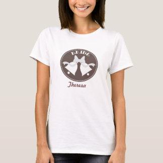 Brauthochzeitsglockenpersonalisiertes Brautt-stück T-Shirt