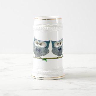 Bräutigam-Eulen-Hochzeits-Geschenke Bierglas