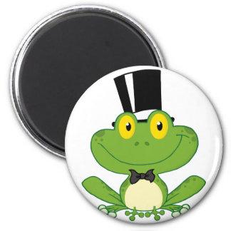 Bräutigam-Frosch-Cartoon-Charakter Kühlschrankmagnete