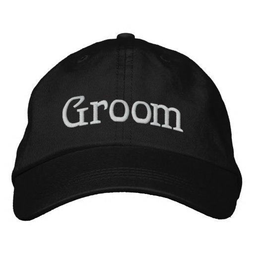 Bräutigam gestickter Hut Bestickte Mützen