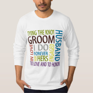 Bräutigam-Hochzeits-T - Shirt